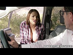 brazzers - sexy hitchhiker krissy lynn gets pounded