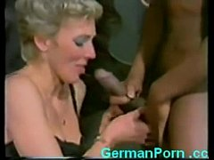 Horny aunt fucks young black guy while niece fu...
