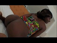 Amateur black teen taking a big white cock in POV Video