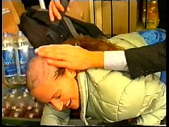 shaving the head clerk and fucking her pussy