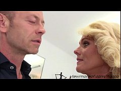 Damn hot blonde MILF Dyana gets pussy rammed filmed in POV