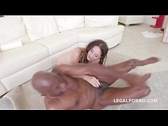 HD Hungarian Babe Cathy Heaven Loves BBC with DAP and Balls Deep Anal