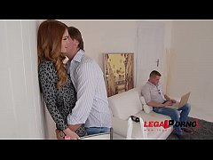 Jealous girlfriend Misha Cross gets that Tight Ass DP'ed by Business partners GP022