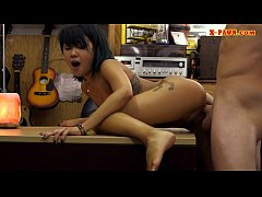 Asian babe pounded by nasty pawn dude