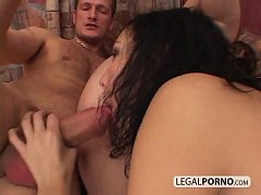 Big cock in a threesome with hot-ass brunettes SL-5-04