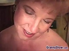 grandma stroking on a cock point of view