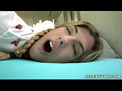 Pigtailed blonde Shona River got assfucked