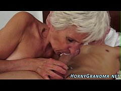 HD Grandmother cum in mouth