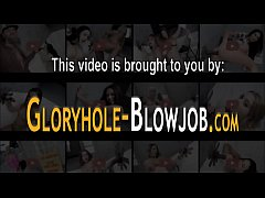 Gloryhole babe ass plowed