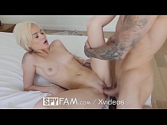 HD SpyFam Step sister Elsa Jean blackmail fuck with mouthful