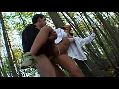 Girl blowjob and fuck by a big cock in jungle