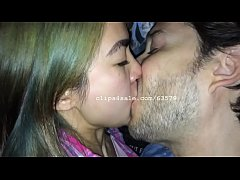 Hot Guy and Asian College Girl Kissing