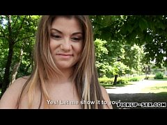 Eurobabe Barbara Sweet flashes big tits and fucked for money