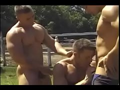 Muscle gay 3 some