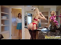 Stepmom MILF Brandi Love gets with horny teen couple