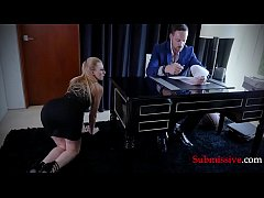 Blonde babe gets violated by shady boss! BDSM