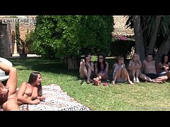 Melonechallenge Mallorca special casting threesome outdoor with Mea Melone