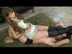 Japanese Femdom Ruri ride horse and drink spit