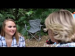 Horny Daughters Fuck Dads on Camping Trip  |DaughterLust.com