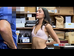 Clip sex Emily crawls on horny officers desk for hot sex in multiple poses