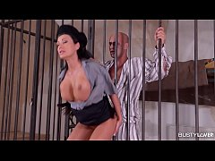 Busty Prison Guard Patty Michova Rides a Hard Cock