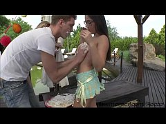 Teen Iwias damn hot and wild birthday party sex outdoors