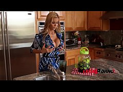 Busty glamour babe Alexis Fawx's big tits fucked balls deep in kitchen GP363