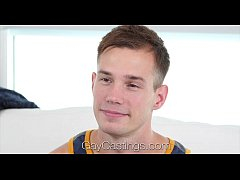GayCastings - Amateur Clean Cut Cameron Jakob Tries Out For Porn