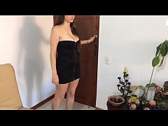 Brother seduces step sister in black dress