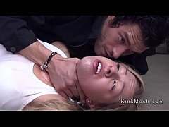 Big tits blonde Zoey Monroe rough deep throat ans anal fucked