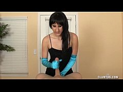 Satin Gloves Handjob