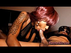 Slim Ebony Swallows Big BBC Dick