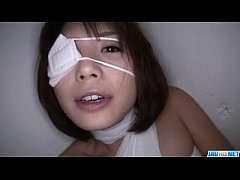 Superb Azumi Harusaki patched with a big cock