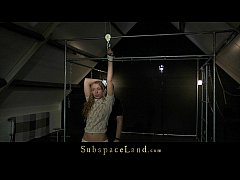 Curly innocent blonde Mary Dream hard bdsm training