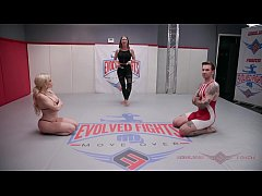 The loser in this match between Nikki Delano and Will Havoc gets put into rope bondage and fucked