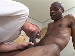 Black gay guy with big cock ass rams