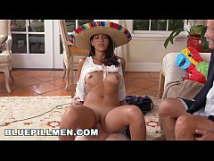 BLUE PILL MEN - Old Men Go South Of The Border With Latina Victoria Valencia