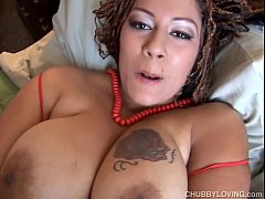 Beautiful big tits black BBW fucks her fat juicy pussy for you