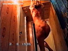 hard russian whipping - severe spanking punishment for russian wife