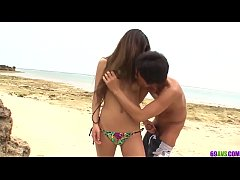 Teen Yui Nanase enjoys dick and orgasms by the beach - More at 69avs com