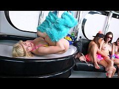 GIRLS GONE WILD - Young teen party girls turning it up on the bus!