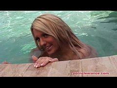 HD Ember Reigns Gets Naked In The Pool
