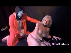 Granny Slave Whipped & Spanked