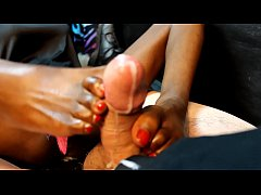 Mistress Jeni Lynn Red Blowfootjob HD
