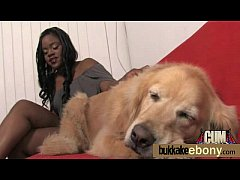 ebony babe sucks and fucks several white dudes 24