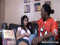 Latin teen  Leah Jaye gets her partially shaved tw