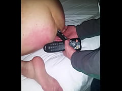 Mature lady w\/ group gangbang. Remotes up anal ...