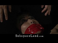 Japanese teen girl tough bdsm pained in an attick