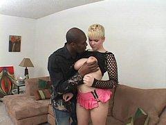 White Claudia Downs whith a Black men