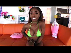 Amazing bubble butted black babe Sarah Banks